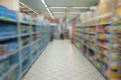 Supermarket store blur background Royalty Free Stock Photography