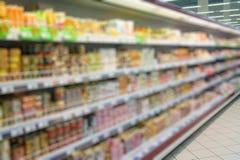 Supermarket store blur background Stock Photography
