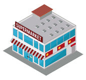 Supermarket store design. Royalty Free Stock Photography