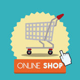 Supermarket store design. Royalty Free Stock Images