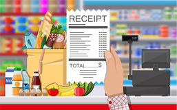 Supermarket store interior with goods. Royalty Free Stock Images