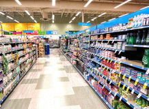 Supermarket. ,the shelf life products Royalty Free Stock Image
