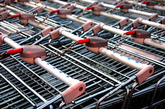 Supermarket texture. Texture of pushcarts of metal supermarket Royalty Free Stock Images