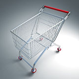 Supermarket trolley. Fine 3d image of classic supermarket trolley Stock Photos