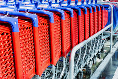 Supermarket trolley Stock Images