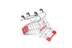 Supermarket trolley stock photo