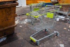 Supermarket trolley Stock Photos