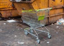 Supermarket trolley Stock Image