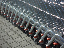 Supermarket trolleys Royalty Free Stock Image