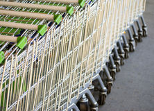 Supermarket trolleys Royalty Free Stock Photos