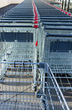 Supermarket trolleys Stock Photography