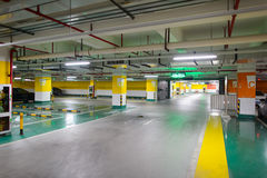 Supermarket underground parking Royalty Free Stock Photos