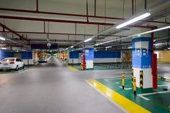 Supermarket underground parking Royalty Free Stock Photography