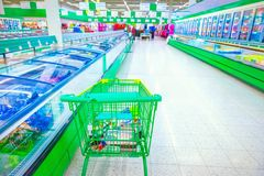 Supermarket. Various products in a supermarket Royalty Free Stock Photo