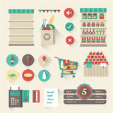 Supermarket stock illustration