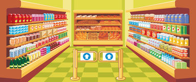 Supermarket. vector. Preview supermarket in expanded form vector illustration