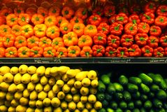 Supermarket Vegetables Stock Photo