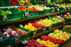 Supermarket Vegetables Royalty Free Stock Photos