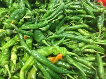 Green pepper. Supermarket vegetables and fruits in various colors Royalty Free Stock Images