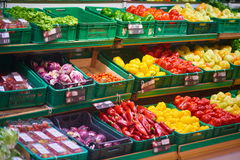 Supermarket vegetables Royalty Free Stock Photography