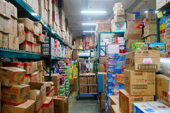 Supermarket warehouse Stock Photo
