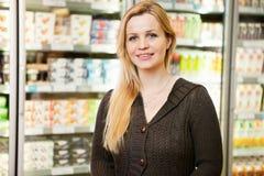 Supermarket Woman Portrait Stock Images