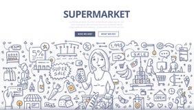 Supermarketa Doodle pojęcie Zdjęcia Royalty Free