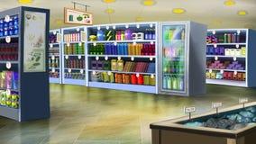 Supermarketa wnętrze Wizerunek 01 Fotografia Stock