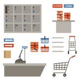 Supermarketa wyposażenie royalty ilustracja