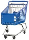 Supermarkethandkärrautklipp arkivbild