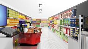 Supermarketinre vektor illustrationer