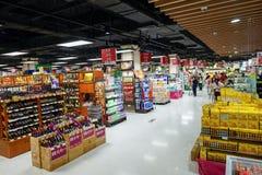 Supermarketinre Arkivfoton