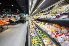 Supermarketinre Royaltyfri Fotografi