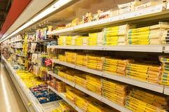 Supermarketkylförvaring Arkivbilder