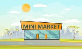 Supermarketlägenhetstil stock illustrationer
