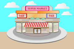 Supermarkets, buildings that create vectors to design your work   Stock Photos