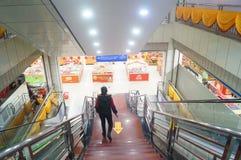 Supermarkets interior landscape. In Baoan manhole street, Shenzhen, China Stock Photos