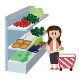 Supermarkets, material, fruit Royalty Free Stock Photography