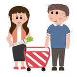 Supermarkets, shopping Royalty Free Stock Images