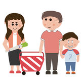 Supermarkets, shopping Stock Images