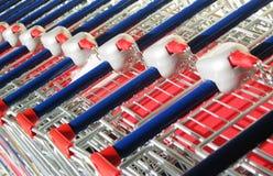 supermarkettrolley royaltyfria bilder