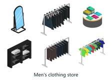 Supermarkt, elektronikaopslag en de bannerreeks van de kledingswinkel Royalty-vrije Stock Foto's