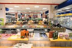 Supermarkt in Europa Royalty-vrije Stock Afbeeldingen