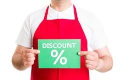Supermarkt of hypermarket kortingsconcept Royalty-vrije Stock Afbeelding