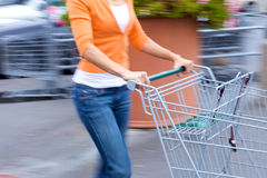 Supermarkt-Käufer Lizenzfreies Stockbild