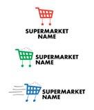Supermarkt, levering aan eindgebruikers of wandelgalerijembleem royalty-vrije illustratie