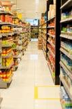 Supermarkt-Regale Lizenzfreies Stockfoto