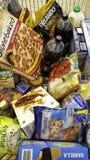 Supermarkt-Warenkorb lizenzfreies stockbild