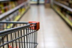 Supermarkt-Warenkorb Stockfotografie