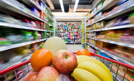 Supermarktauszug Lizenzfreies Stockbild